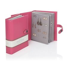 Large Little Book Of Earrings Pink 4 Page Jewellery Storage Box Book Xmas Gift