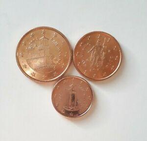 Saint Marin 2004 - 1 Cent, 2 Cent, 5 Cent du coffret BU  ✔