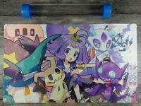Pokemon Acerola Playmat Trading Card Game YuGiOh Custom CCG Mat Free Best tube