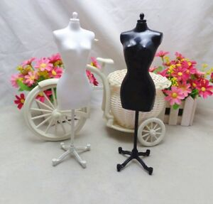 2pcs/lot Display Holder Dress Clothes Gown Mannequin Model Stand For 1/6 Doll