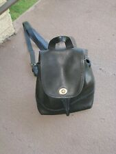 Vintage COACH #9960 Black Leather Daypack Small Backpack Purse