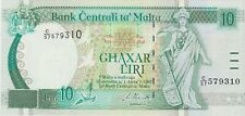 More details for p47 malta 10 lira 1994 banknote in mint condition