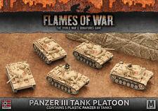 Flames of War NUOVO CON SCATOLA Panzer III Serbatoio Platoon (Plastica) GBX96