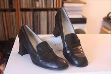 Delman D185892 Black Faux Croc Leather 2 3/4 Inch Heel Pumps Size 9.5 N