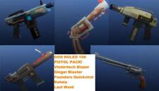 xbox PC PS4 Fortnite GUNS PISTOL PACK pwr106 GOD ROLED PVE save the world