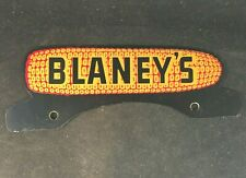 Vintag BLANEY'S HYBRIDS CORN SEED LICENSE PLATE TOPPER Rare Old Advertising Sign