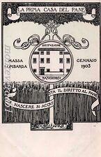 MASSA LOMBARDA - La prima casa del pane - gennaio 1903 Istituzione Sangiorgi