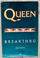 QUEEN - BREAKTHRU - 1989 PROMO POSTER (lp tour box vinyl cd ticket coloured)