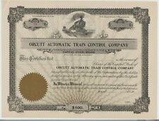 Orcutt Automatic Train Control Company Stock Certificate