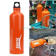 Aluminum Alloy 750ml Fuel Bottle Oil Stove Flat Tank fr Survival Outdoor Camping