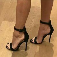 Stylish Women Sandals Open Toe Heels Sandals Black Shoes Woman Plus Size 4-20
