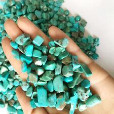 100G/3.5oz Bulk Artificial Green Turquoise Quartz Tumbled Gravel Stone Healing
