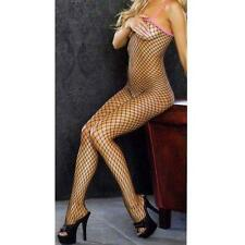 Fantasy Lingerie Fishnet Bodystocking With Contrast Color Spaghetti Strap