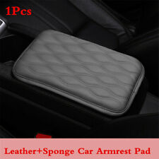 Car Center Console Box Armrest Cover Gray Leather Protector Cushion Pad For Rest