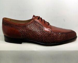 Yanko Vintage Espana Brown  Leather Weave Shoes Men's 11D .