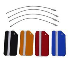 4pcs Aluminium Metal Travel Luggage Baggage Suitcase Address Tags Label Hol T8T2