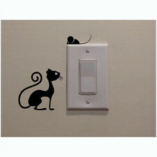 cat and mouse switch stickers living room kitchen wall stickers CA