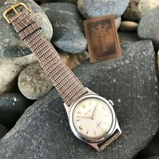 Beautiful 1970 Bulova Vintage 17j Watch & French Lizard Strap Serviced &Warranty