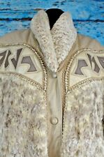 Norma Women's Leather Jacket Sz Large Canada Retro Vintage Button Snap Warm Cowl