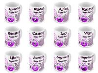 Personalised Any Name Zodiac Astrology Horoscope Star Sign Novelty Gift Mug-Pink