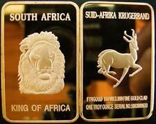 1 Oz Medal bullion Bars Krügerrand Lion New Rare 999 vergodet in Capsule