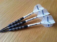 25g BLACK TUNGSTEN Nodor Darts Set, Target Stems, White Carrera Flights & Wallet