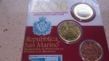 Minikit San marino 2006. 5 ctm 50ctm y 1 euro