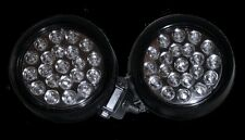 (2) 21 LED Round Rubber Work Lamps For ATV TRUCK RV Utility