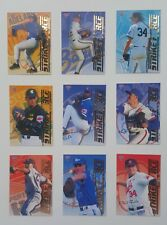 1995 Futera ABL Australian Baseball Strikeforce Firepower set of 9 insert cards