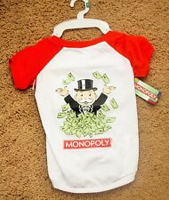 NWT Monopoly Dog T-Shirt Clothes LARGE L