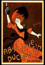 -A3- Absinthe Ducros Fils Lady - Retro Vintage Alcohol Bar Pub Wall Poster #34