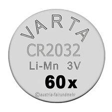 """""""60x CR2032 Lithium Batterien Knopfzellen 3Volt VARTA"""