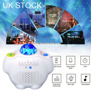 Galaxy Star Night Lamp LED Starry Sky Projector Light Ocean Wave + Remote