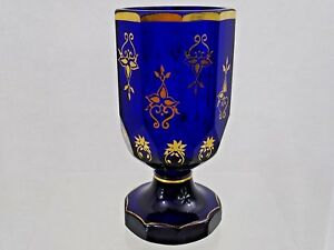 ANTIQUE IMPERIAL RUSSIAN GILDED GLASS BEAKER CUP GOBLET early 19th century RARE