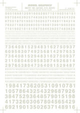 """Woodland Scenics MG727 Gothic R.R. Numbers White 1/16-5/16"""" Train Decal Sheet"""