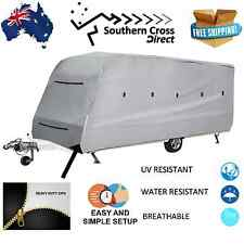 20-22 FT Campervan Caravan Cover 4 Side Open UV Protection Heavy Duty Waterproof
