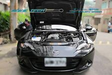 Silver Carbon Strut Lift Hood Shock Damper Kit for 16-18 Mazda Miata MX5 ND MX-5