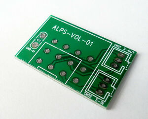 1-10pcs PCB for ALPS RK27 RK16 Type Potentiometer 3/4pin Stereo Tinned