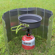 Foldable Wind Shield Screen 10 Plates Outdoor Camping Cooking Gas Stove UK