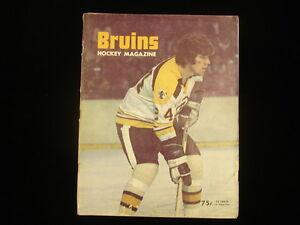 February 10, 1974 Minnesota North Stars @ Boston Bruins Program