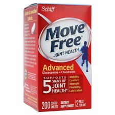New! Schiff Move Free Joint Health Advanced Glucosamine Chondroitin, 200 Tablets