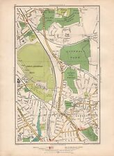 1936 LARGE SCALE MAP -  LONDON MILL HILL LONDON AERODROME HENDON COLINDALE PAGE