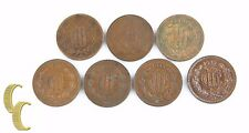 1920-1935 Mexican 10 Centavos Lot (F-XF, 7 coins) Mexico City Diez 10c KM-430