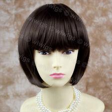 Wiwigs Lovely Silky Short Dark Coffee Brown Bob Skin Top Ladies Wig