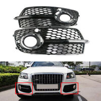 Pair Front Lower Bumper Grill Grille Fog Light Cover For AUDI Q5 S Line 13-16