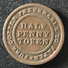 Canada 1813 Half Penny Token Un Sou NS-21A3 / Breton 965