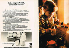 PUBLICITE ADVERTISING 064  1976  SEB   yaourtière   ( 2 pages)