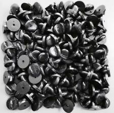Plastic Rubber Pin Badge Backs (Clutch - Clasp - Fixings) - [BLACK & YELLOW]