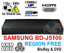 Samsung BD-J5100 Multi Zone All Region Free Blu-Ray DVD Disc Player NEW