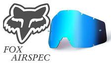 Goggle Shop MX Motocross lens for Fox: Airspec - Mirror Blue